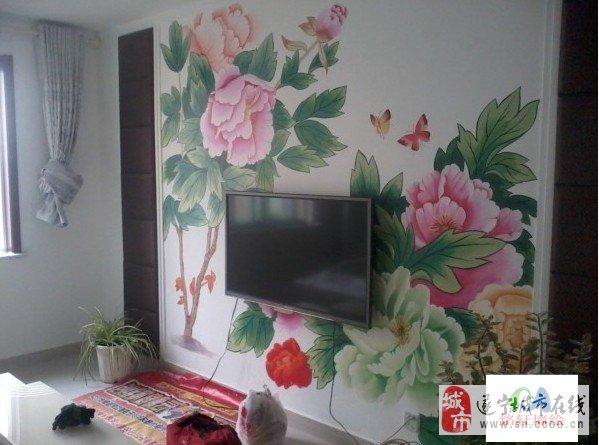 饭店墙面线条手绘图案