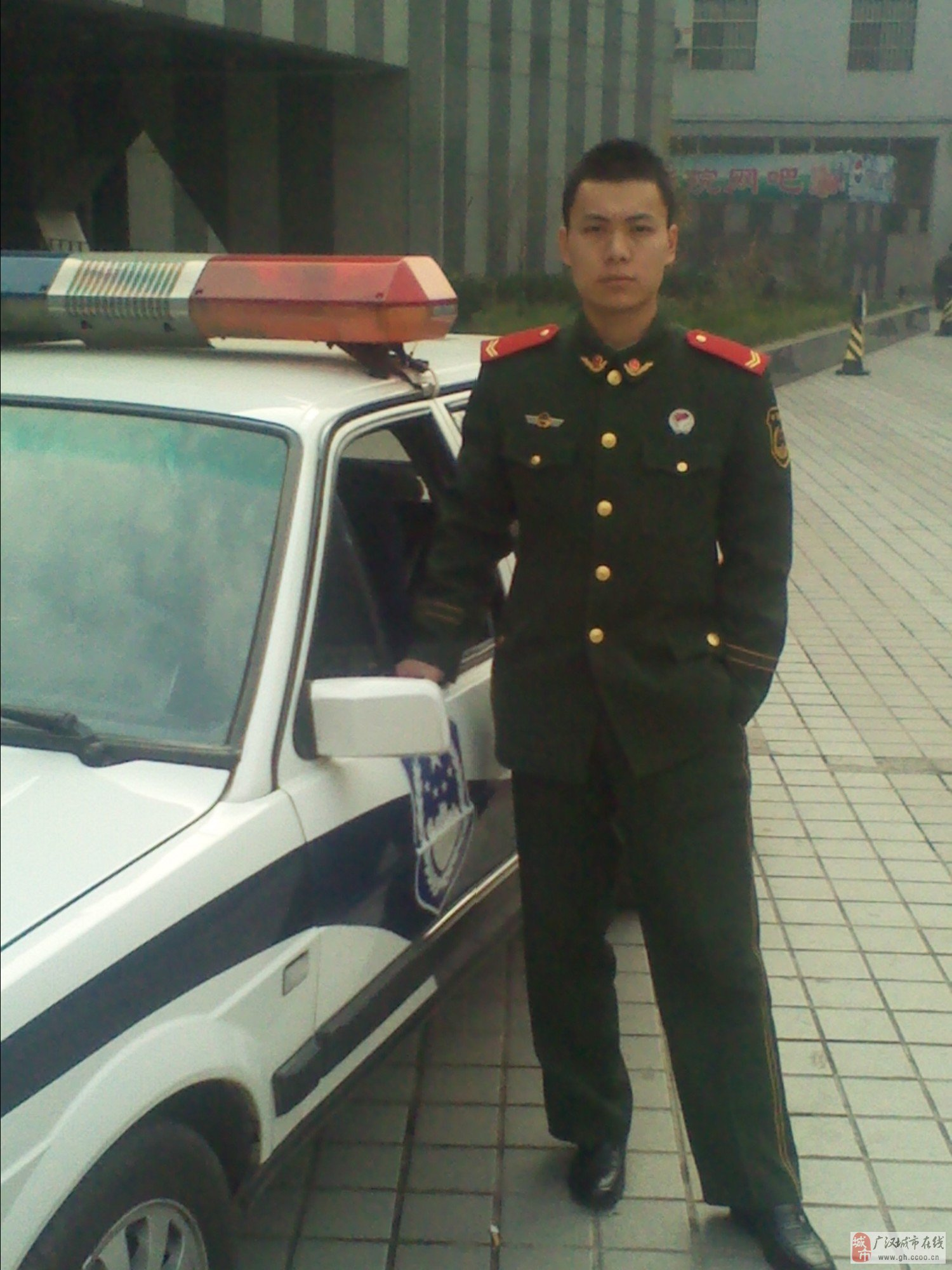 武警军人士官卡通头像男