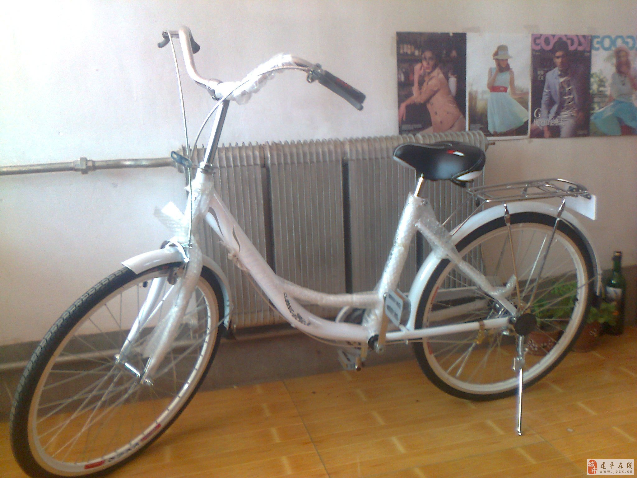 全新飞鸽24全白色自行车