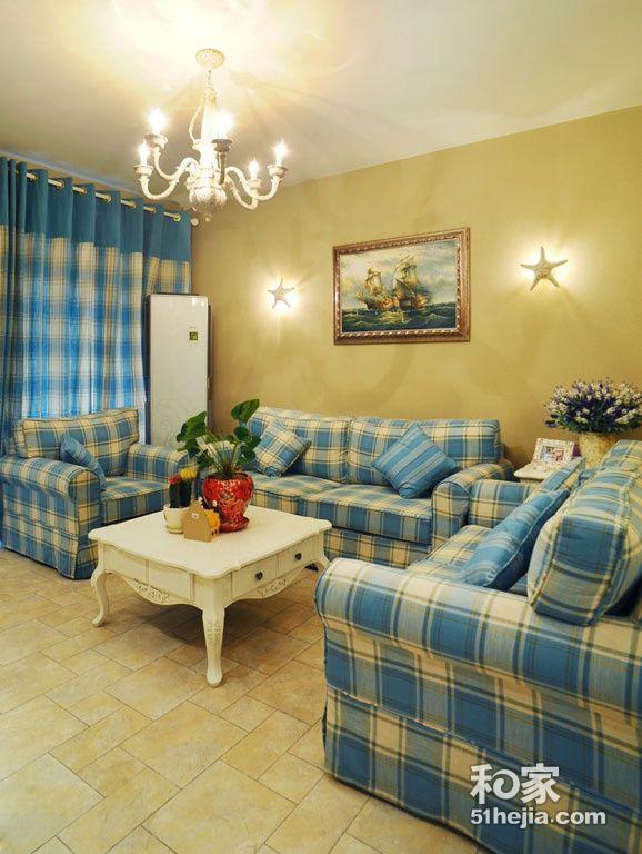 6.5万80平唯美地中海清凉、浪漫两居室