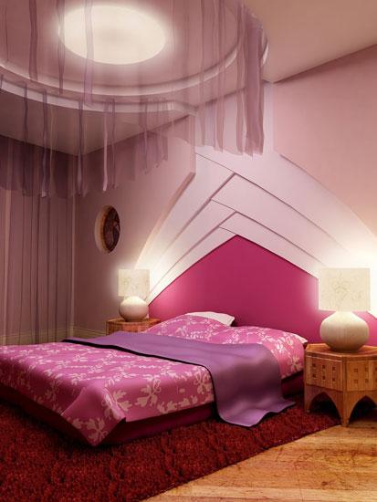 新婚卧房加点红 12款浪漫卧室艳而不俗