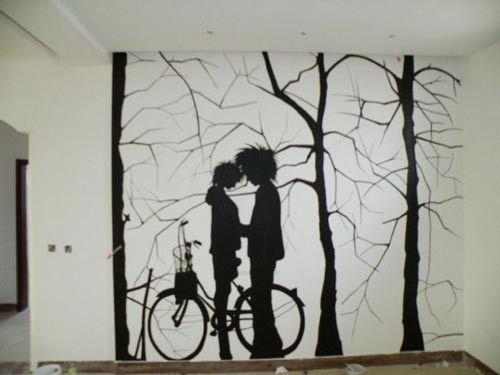 简单室内墙绘图片大全