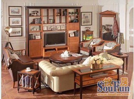 回味古典英伦风 5款亚振家具客厅装修沙发效果图