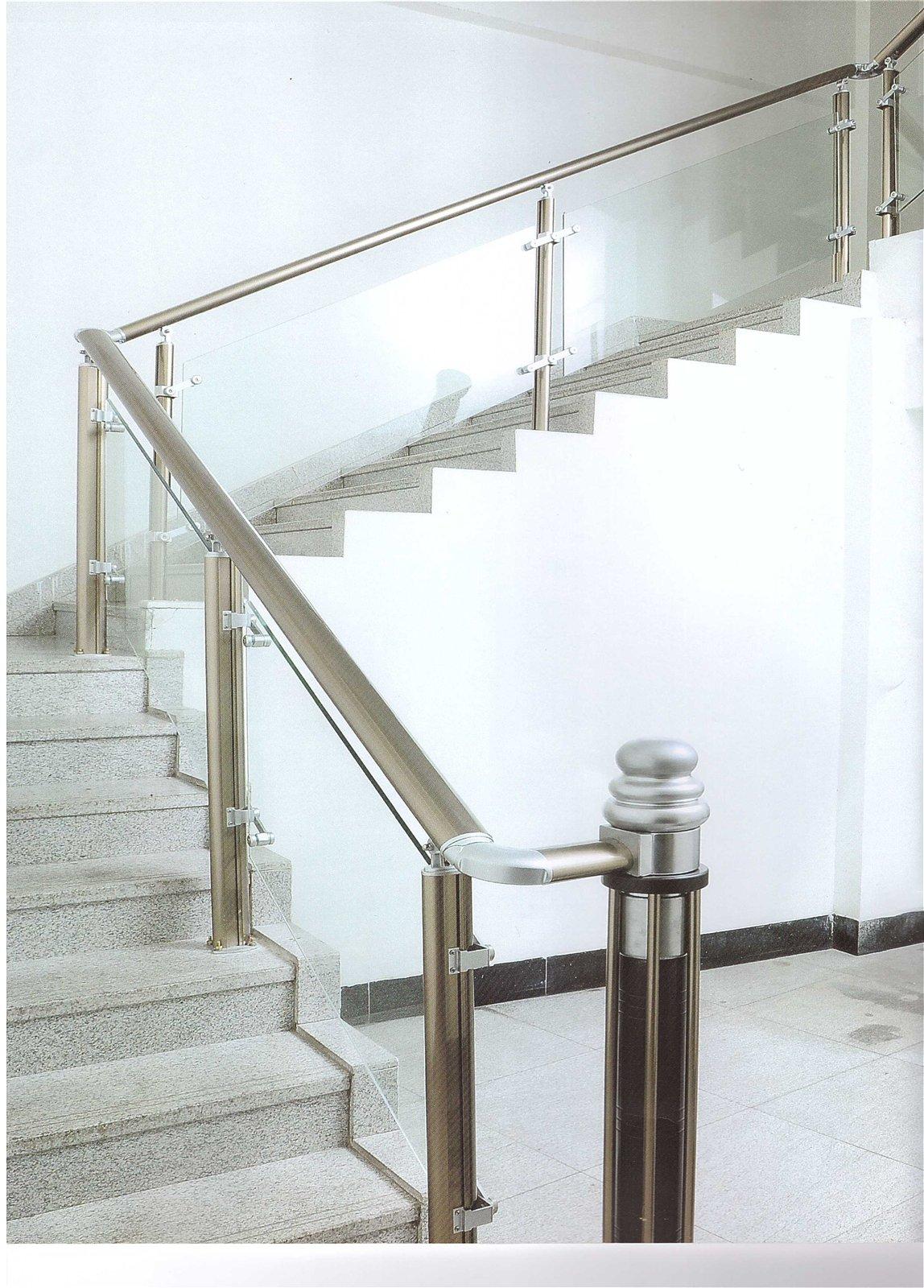 精品铝合金楼梯扶手图片
