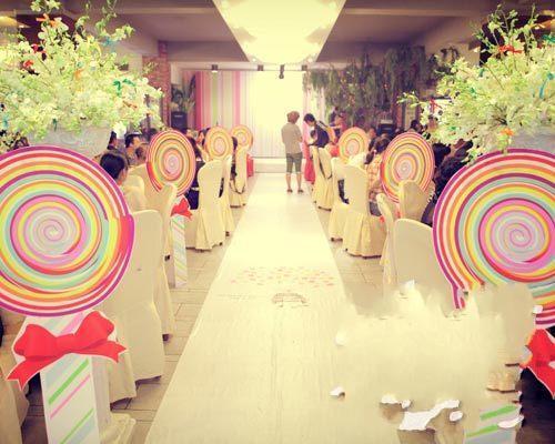 绚烂彩虹童趣主题婚礼