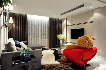 网购达人7.5万装修97平3居室 现代时尚别致新生活