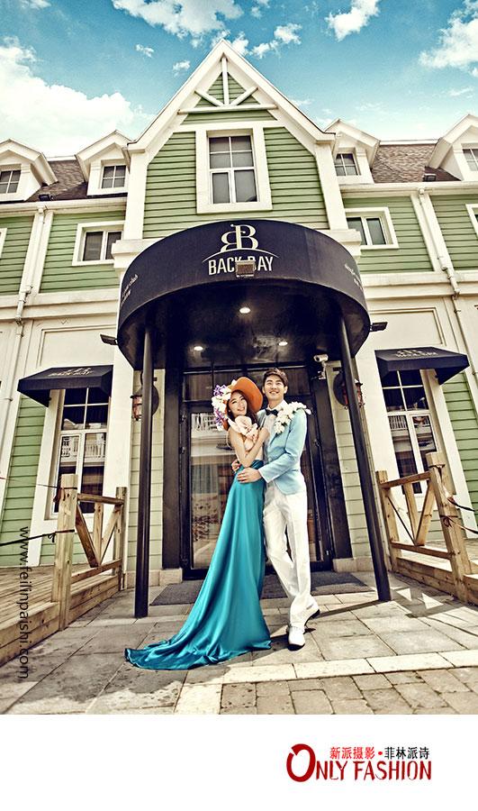 大连街景婚纱照