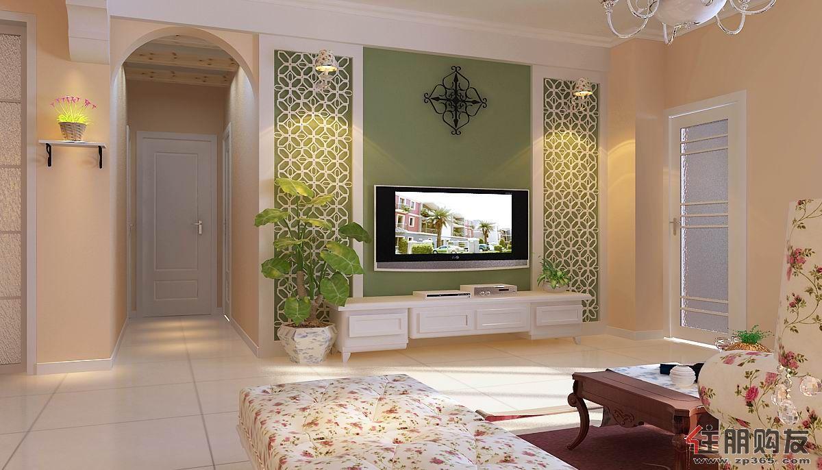 装修效果图欣赏   欧美风情四居室客厅茶几装修效果图欣赏