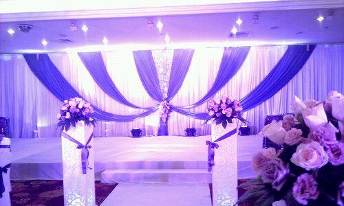 紫蓝婚礼布置