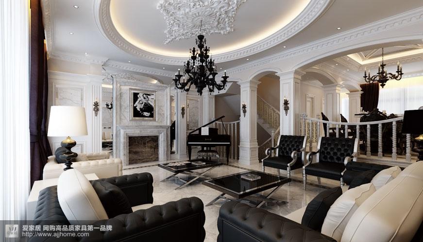 黑白会所? 不,只是时尚之家 350平别墅