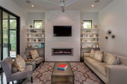 小户型客厅装出欧美范  欧式电视背景墙
