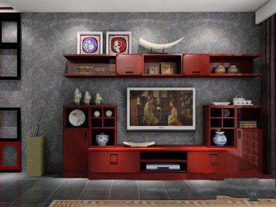 03 2013年流行电视墙设计效果            采用窗式造型的电视柜