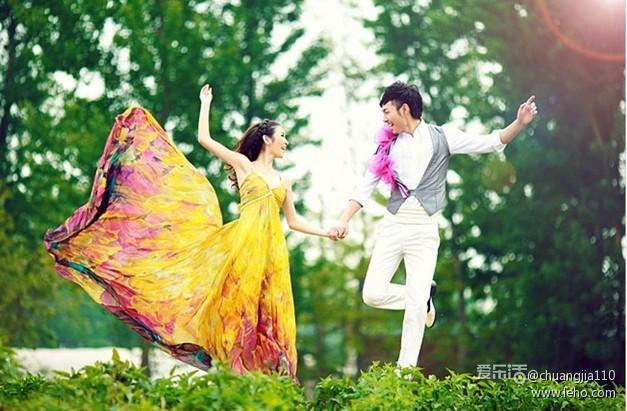 婚纱照――大自然见证唯美的爱情