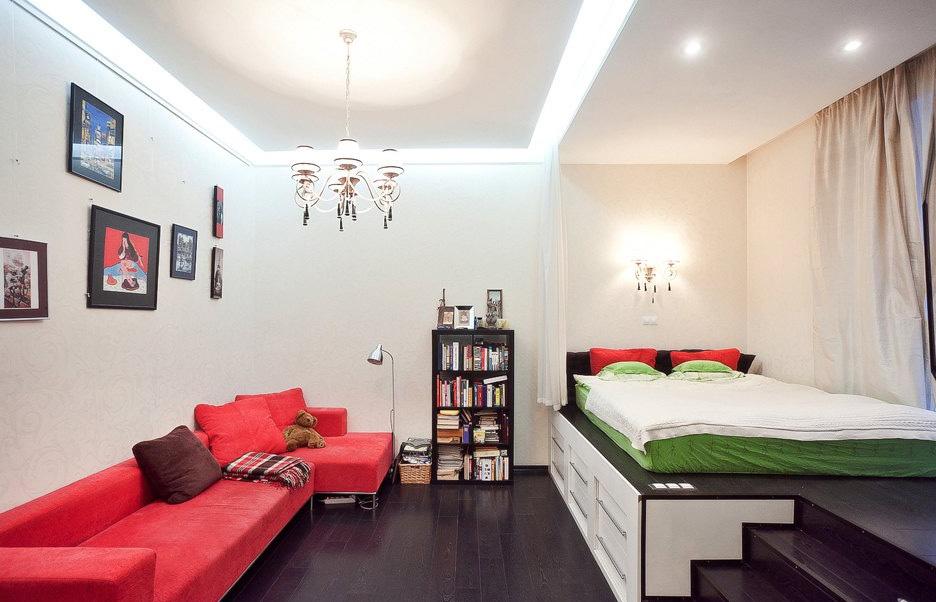 简约40平米小户型卧室榻榻米装修效果图