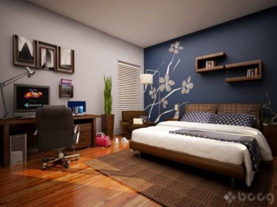 床头背景墙的效果图是卧室装修的点睛之