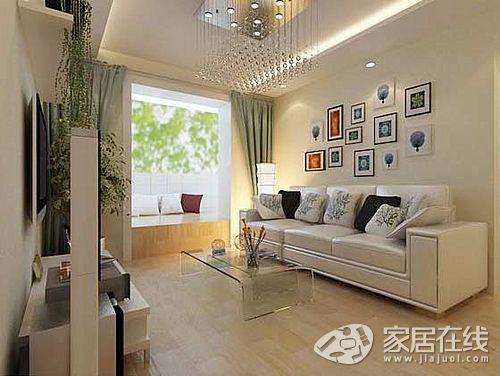 小区简约风格两居室案例