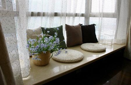 卧室飘窗窗帘效果图 打造美丽家居风景线