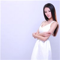 青白江国际名店巴黎婚最新纯色背景艺术照展示