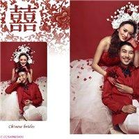 青白江国际名店巴黎婚纱中国红展示