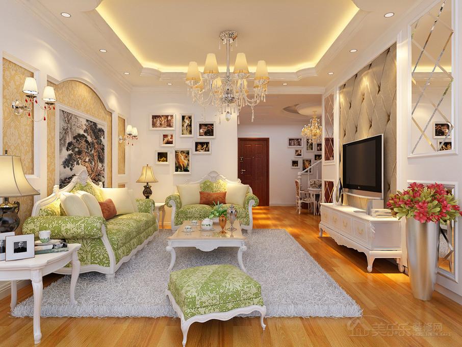 大户型欧式风格一楼卧室窗帘装修效果图