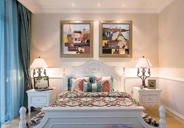 玛丽61洛丝整体软装 蓝白搭配浪漫欧式别墅