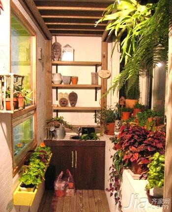 老房里的春天 DIY花园小阳台