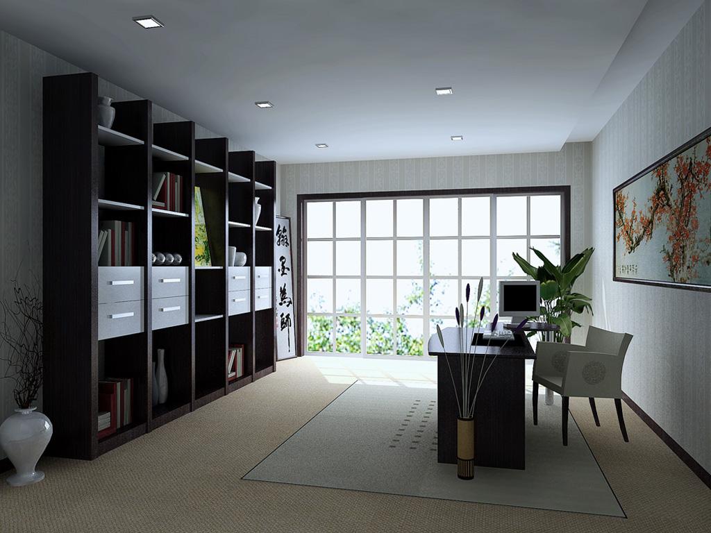 办公室 家居 设计 书房 装修 1024_768
