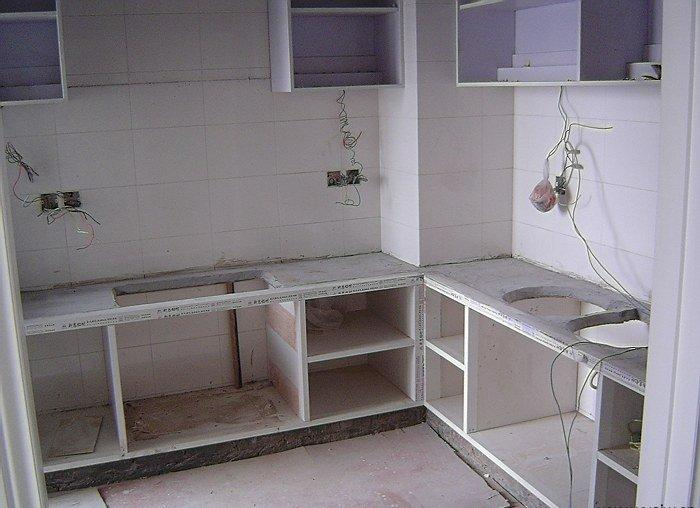 新型瓷砖橱柜制作