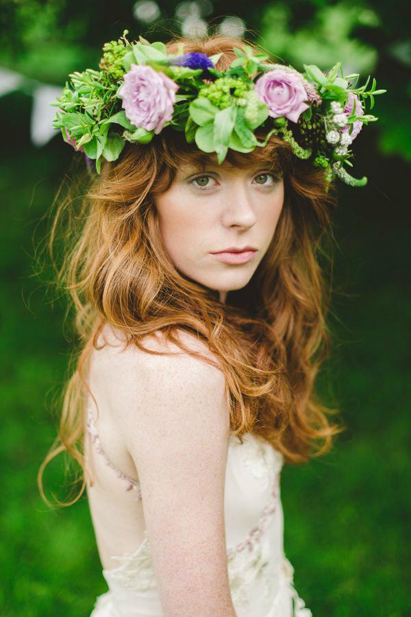 仙气十足的春季新娘花环头饰
