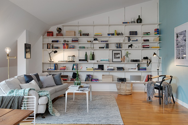 78平米私人专属书屋 北欧帅气的阁楼三居