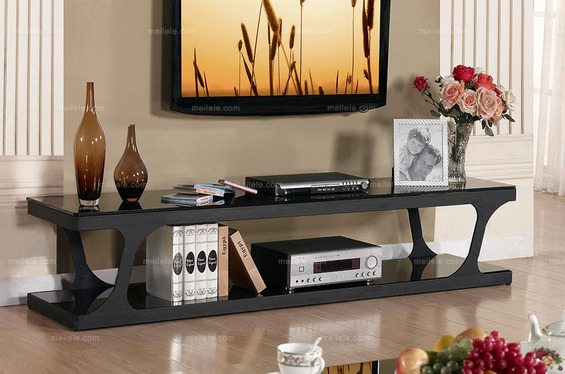 客厅钢化玻璃电视柜