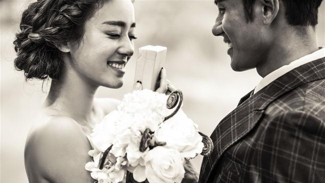 黑白复古婚纱照欣赏