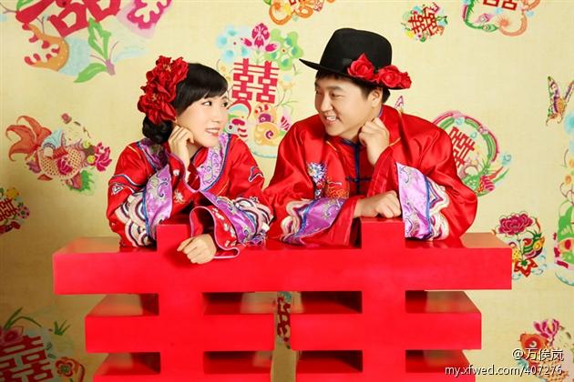 美美的中式婚纱照