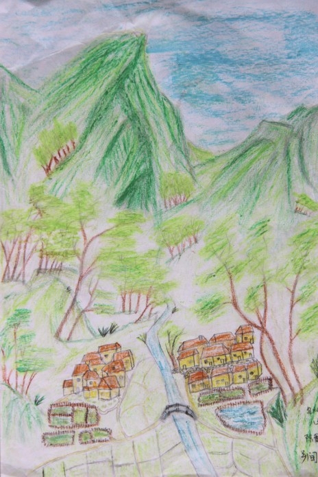 乡间风景儿童画