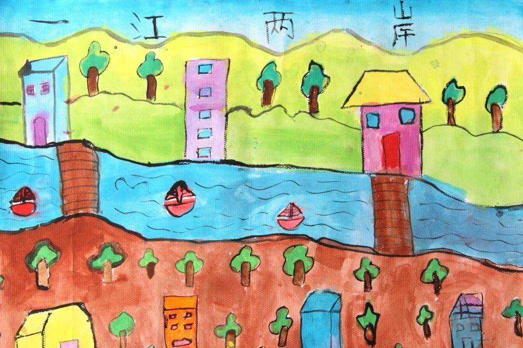 梦儿童绘画作品图片  中国梦家乡美儿童画图片分享_我的梦中国梦分享