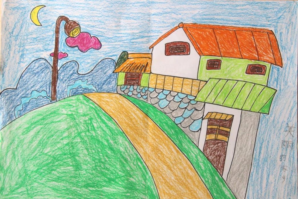 儿童乡村画简单又漂亮