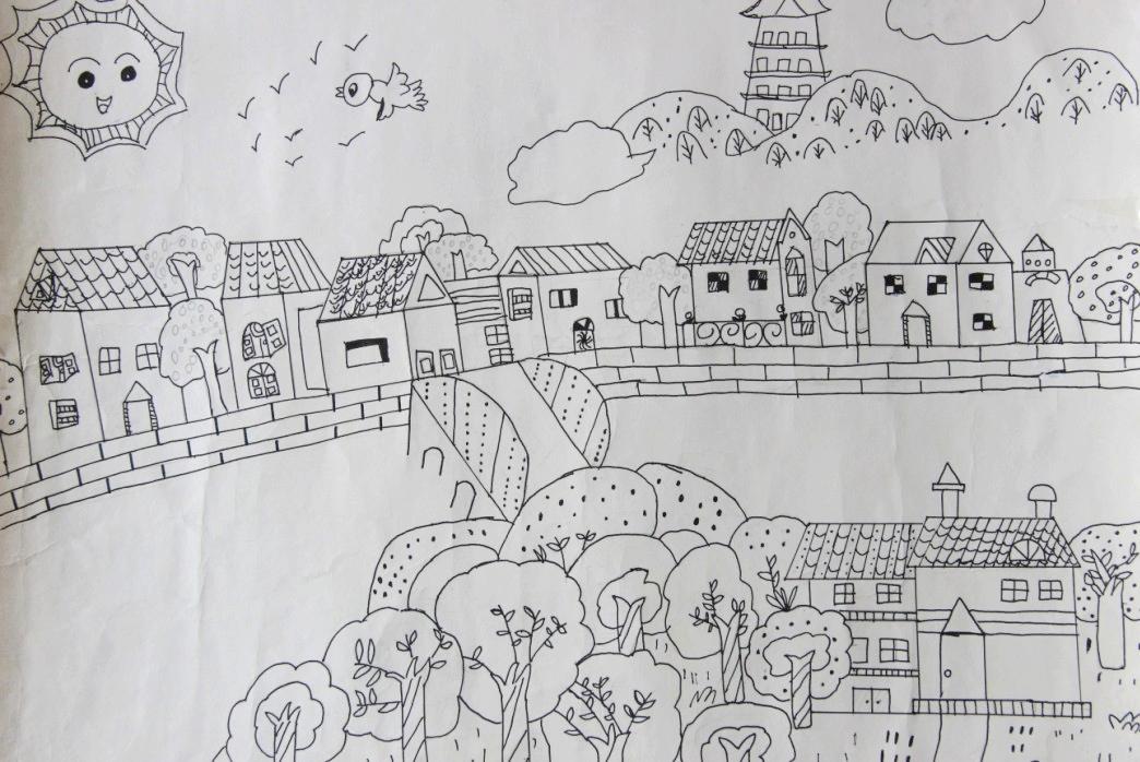 手绘家乡平面图