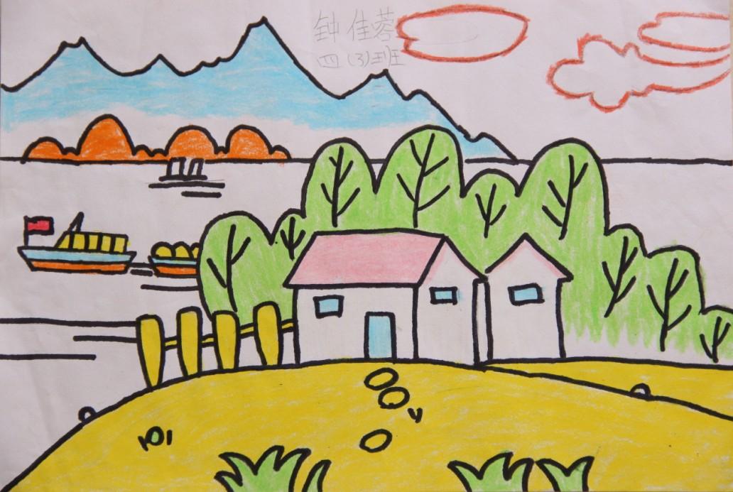 我爱家乡美_小学生我爱家乡画作品_装修图库