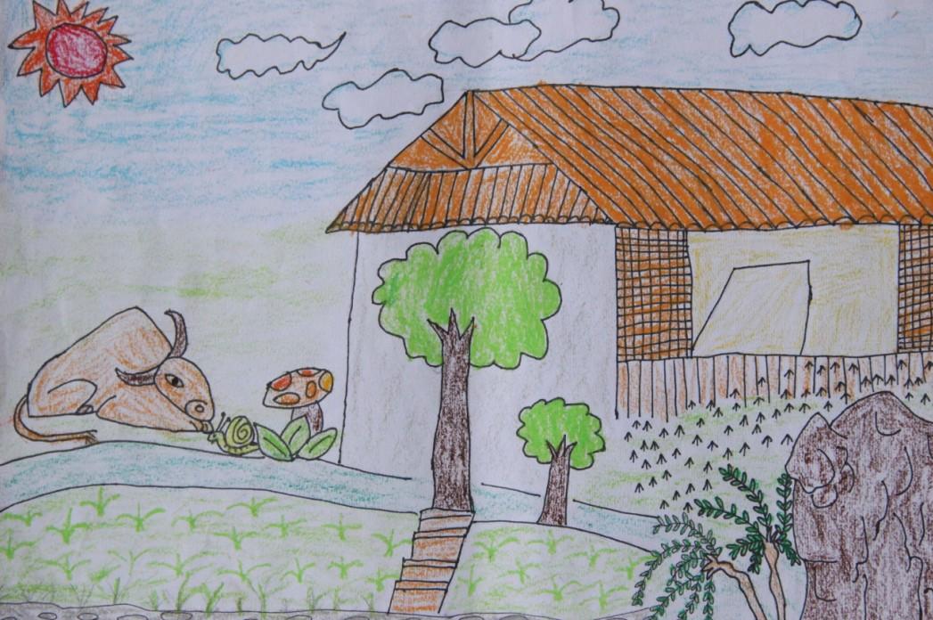 孑孑向西之香格里拉_乐乐简笔画