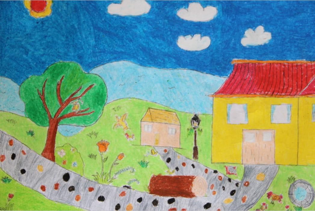 美丽中国美好家园画_美丽家园画一等奖素描-我心中的美丽家园绘画_美丽家园画_美丽 ...