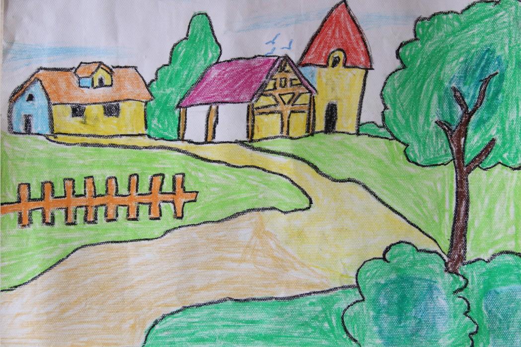 家乡风景绘画图片大全展示
