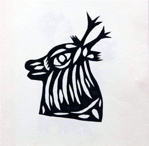 可爱的羊头简笔画