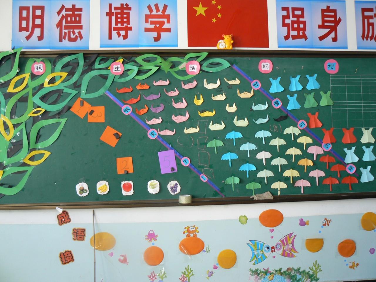 幼儿园墙面边框设计 幼儿小班开学主题墙-幼儿园小班水果主题墙-幼儿