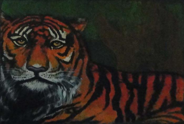 3岁幼儿画画作品老虎