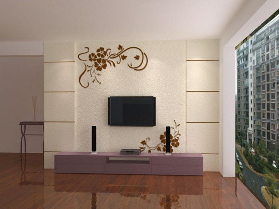 绿森林硅藻泥电视竹子林背景墙分享展示